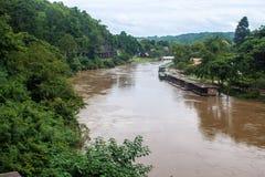 Mening van de spoorweg van Birma Stock Foto's