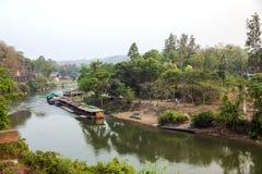 Mening van de spoorweg van Birma (Doodsspoorweg) Royalty-vrije Stock Foto