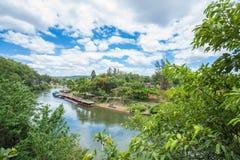 Mening van de spoorweg van Birma (Doodsspoorweg) Thailand Royalty-vrije Stock Foto