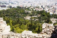 Mening van de stad van Athene van hierboven royalty-vrije stock foto's
