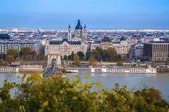 Mening van de stad, Boedapest, Hongarije Stock Foto