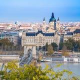 Mening van de stad, Boedapest, Hongarije Stock Fotografie