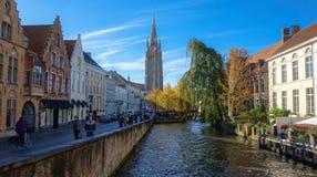 Mening van de stad van Brugge stock fotografie