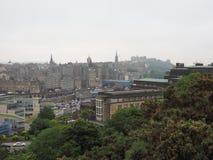 Mening van de stad van Edinburgh royalty-vrije stock afbeelding