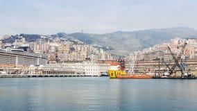 Mening van de stad van Genua stock foto