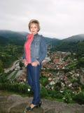 Mening van de stad Gernsbach Stock Afbeelding