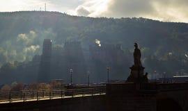 Mening van de stad Heidelberg stock foto