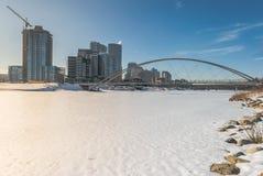 Mening van de stad in het ontwikkelen van Calgary Royalty-vrije Stock Fotografie