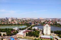 Mening van de stad van Krasnodar royalty-vrije stock foto's
