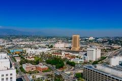 Mening van de stad van Los Angeles, van het Stadhuis van Los Angeles royalty-vrije stock foto
