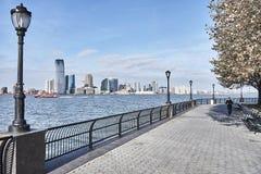 Mening van de Stad van New York op New Jersey royalty-vrije stock foto
