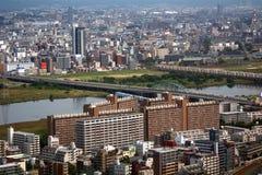 Mening van de stad, Osaka, Japan royalty-vrije stock foto's