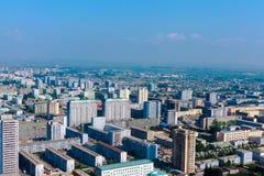 Mening van de stad Pyongyang Royalty-vrije Stock Afbeelding