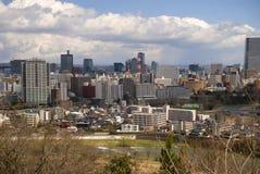 Mening van de stad, Sendai, Japan stock fotografie