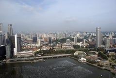Mening van de stad, Singapore Royalty-vrije Stock Afbeeldingen
