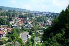 Mening van de stad - Szczawnica Stock Afbeeldingen