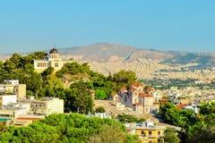Mening van de stad van Athene Royalty-vrije Stock Foto's