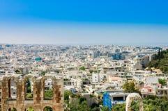 Mening van de stad van Athene, Royalty-vrije Stock Afbeelding