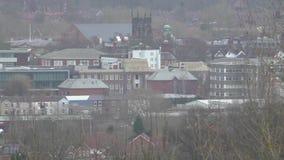 Mening van de stad van de provincie van Stafford stock videobeelden