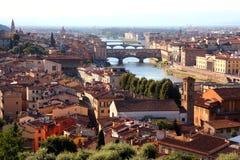 Mening van de stad van Florence Stock Foto