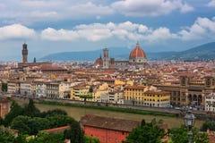 Mening van de stad van Florence, Italië Stock Foto
