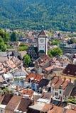 Mening van de stad van Freiburg in Duitsland Stock Afbeeldingen