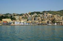 Mening van de stad van Genua, Italië Stock Afbeeldingen