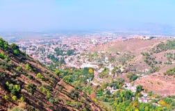 Mening van de stad van Granada Stock Foto's