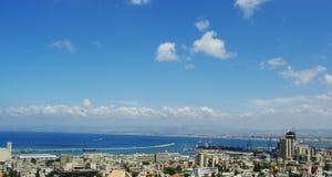 Mening van de stad van Haifa Stock Foto's