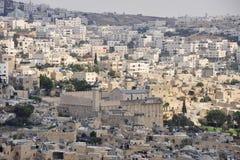 Mening van de stad van Hebron, Israël. royalty-vrije stock foto's