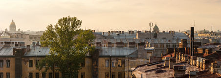 Het dak van Sankt- Peterburg Stock Afbeeldingen