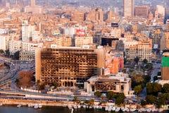 Mening van de stad van Kaïro, Egypte Stock Fotografie