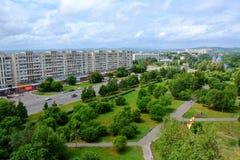 Mening van de stad van komsomolsk-op-Amur, Rusland Royalty-vrije Stock Afbeelding