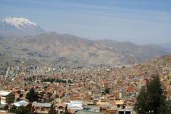 Mening van de stad van La Paz Royalty-vrije Stock Afbeeldingen