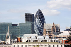 Mening van de stad van Londen Stock Afbeelding