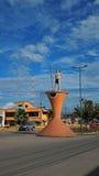 Mening van de stad van Loreto in Ecuatoriaans Amazonië ecuador Stock Foto