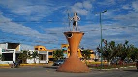 Mening van de stad van Loreto in Ecuatoriaans Amazonië ecuador Royalty-vrije Stock Fotografie