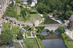 Mening van de stad van Luxemburg Stock Afbeelding