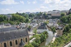 Mening van de stad van Luxemburg Stock Foto's