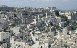 Mening van de stad van Matera, Italië royalty-vrije stock fotografie