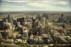 Mening van de stad van Melbourne Stock Foto