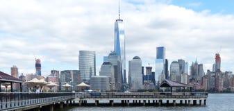 Mening van de stad van New York van New Jersey 2 Stock Foto's