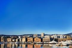 Mening van de stad van Oslo Stock Afbeelding