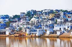 Mening van de Stad van Pushkar, Rajasthan, India Stock Fotografie