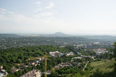 Mening van de stad van Pyatigorsk in Rusland Stock Fotografie