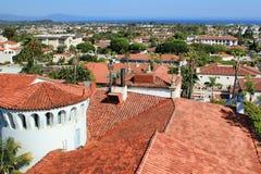 Mening van de stad van Santa Barbara stock afbeeldingen