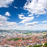 Mening van de stad van Stuttgart, Duitsland Royalty-vrije Stock Foto