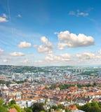 Mening van de stad van Stuttgart, Duitsland Royalty-vrije Stock Afbeeldingen