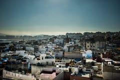 Mening van de stad van Tanger in marocco Royalty-vrije Stock Foto's