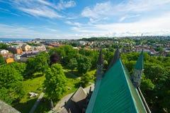 Mening van de stad van Trondheim Royalty-vrije Stock Foto